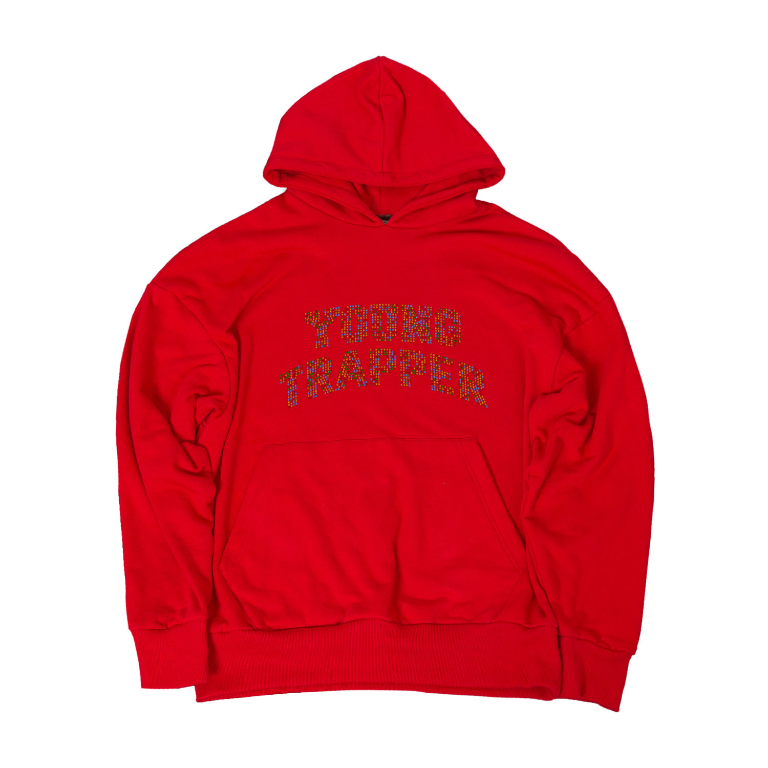 YOUNG TRAPPER HOODIE RED SS20
